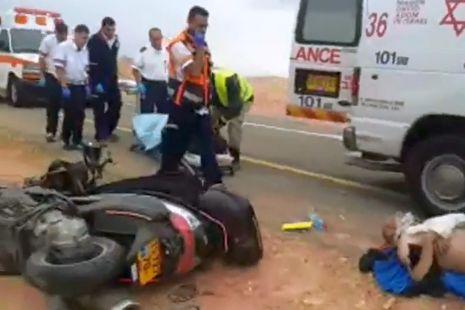 וידיאו: תאונה קשה בכביש 12
