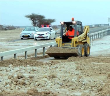 וידיאו ותמונות: ברד, גשם ושטפונות באזור הערבה