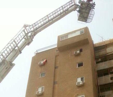 וידיאו: פצוע קשה בשריפה
