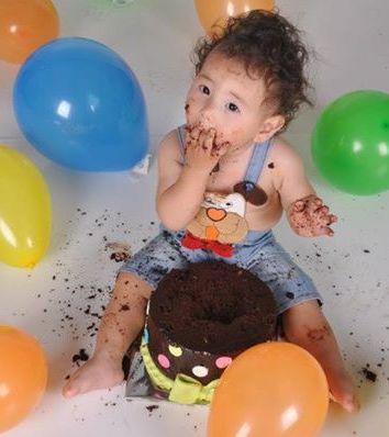 שירלי רוזנס - צילומי 'קייק סמאש'  Cake Smash