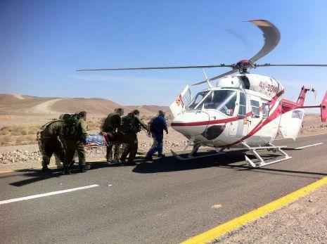 וידיאו ותמונות: הרוג בתאונת דרכים בדרך לאילת