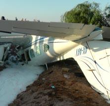 הטייס ביצע שתי טעויות והתרסק