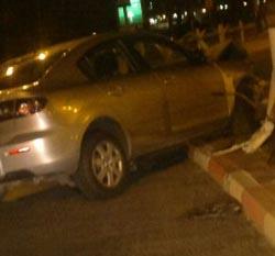 תאונה בפתח תחנת המשטרה