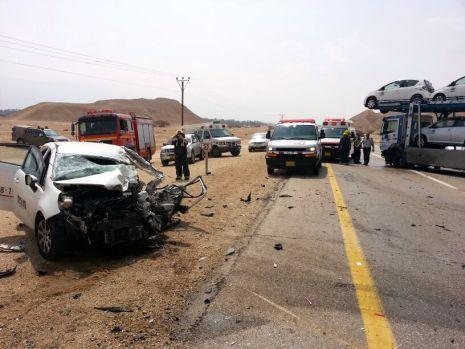 פצוע קשה מאוד בתאונת דרכים