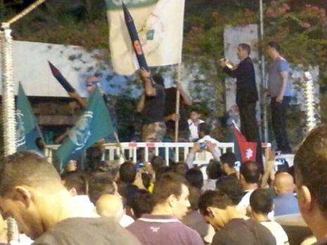 בעקבה: אלפי מפגינים קראו להפציץ את אילת בטילים