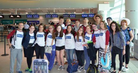 אחרים ביטלו בגלל המלחמה: רק צעירי טורונטו הגיעו לאילת