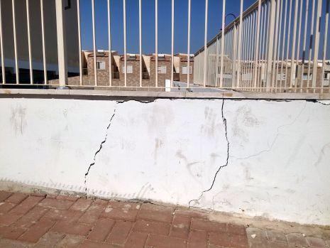 סכנת התמוטטות ברחוב ירושלים השלמה