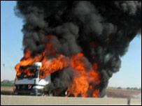 חשד להצתת משאית בשכונת צופית