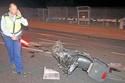 רוכבת אופנוע נפצעה קשה ב'כיכר העפרונות'