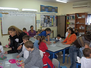 חוגגים 100 ימי לימוד בבית ספר 'אלמוג'