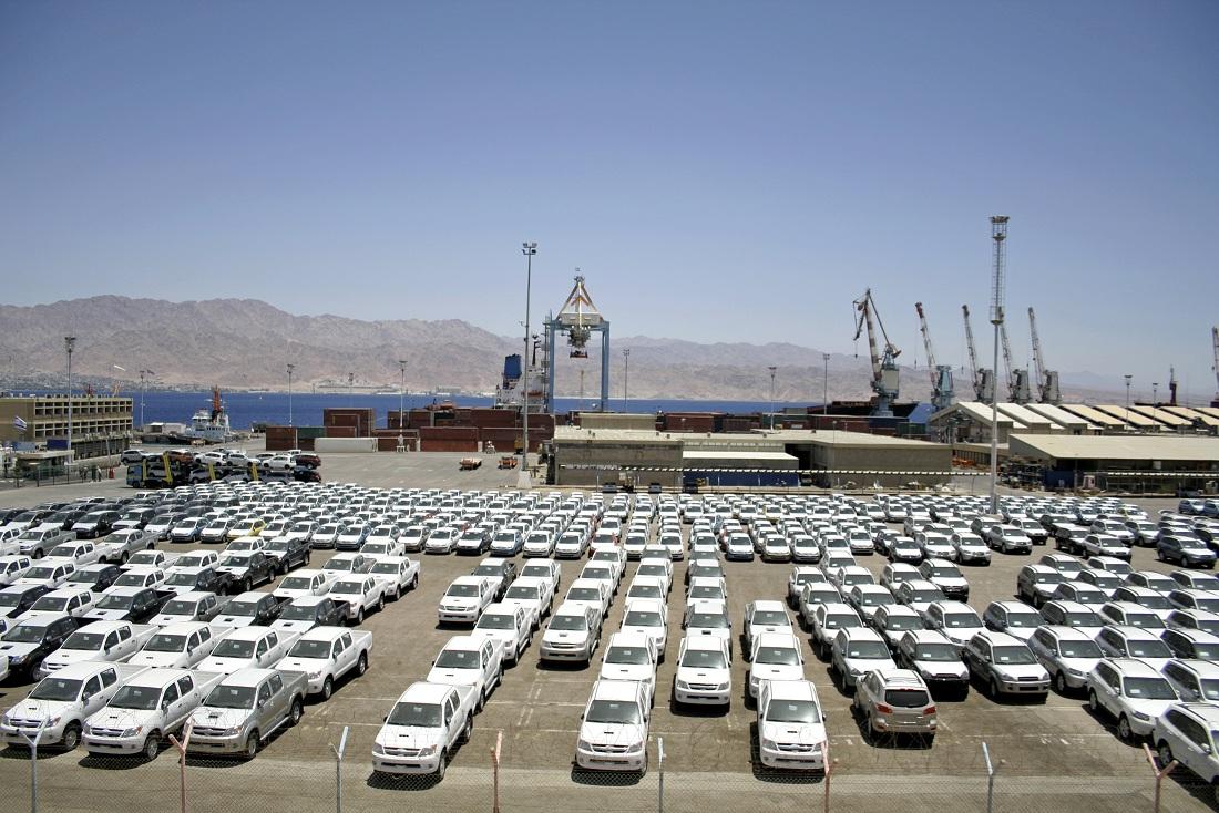 8499 כלי רכב נפרקו בנמל אילת