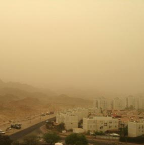 היזהרו: צפוי זיהום אוויר חריף באילת