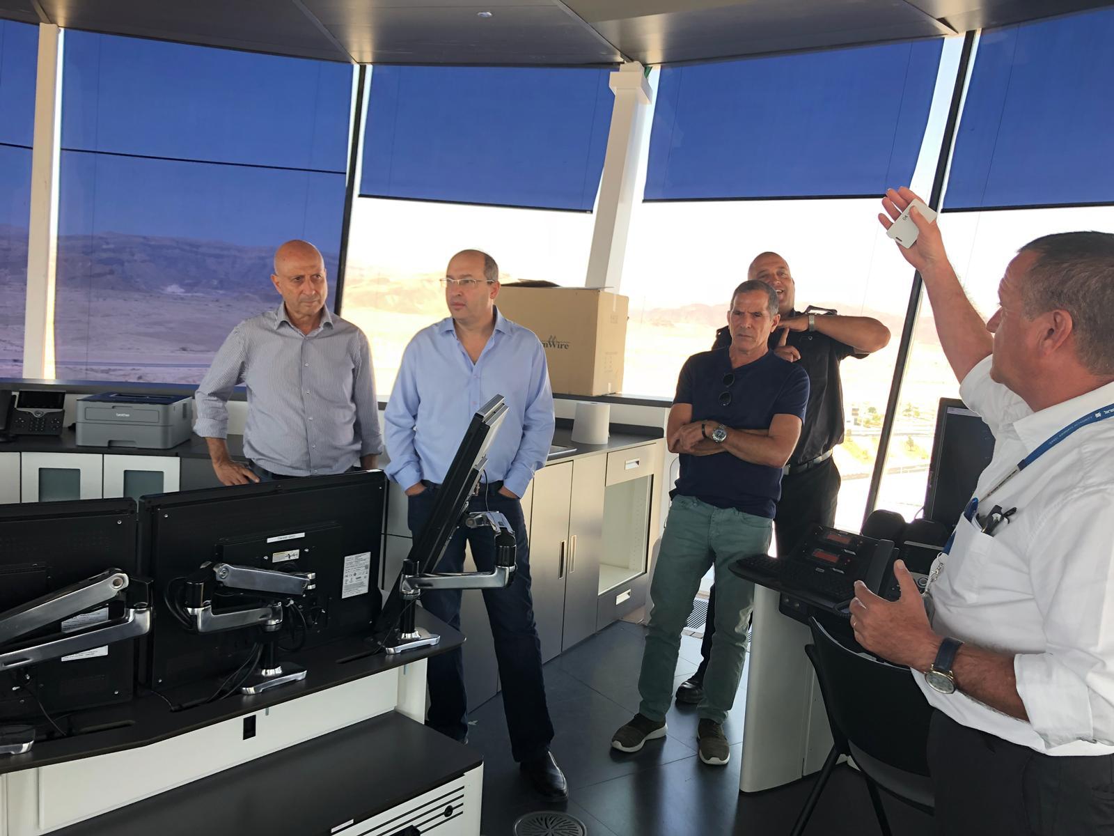 יו''ר ההסתדרות ניסנקורן בשדה התעופה רמון: ''השדה החדש יהיה לקטר התעסוקה של העיר אילת''