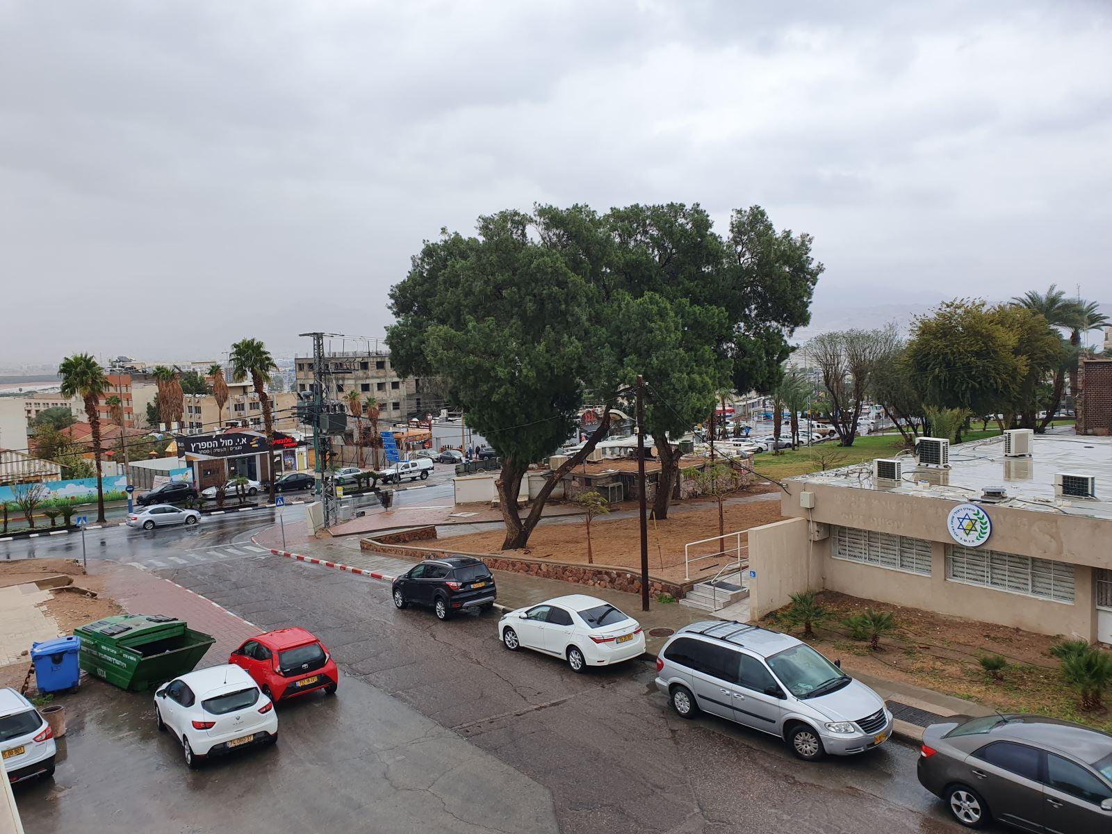 הסופה באילת - דיווחים מהשטח