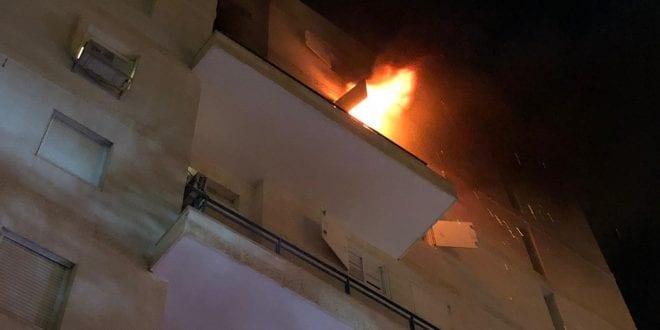 אילת: שריפה בדירה בבניין בין 8 קומות. אין נפגעים