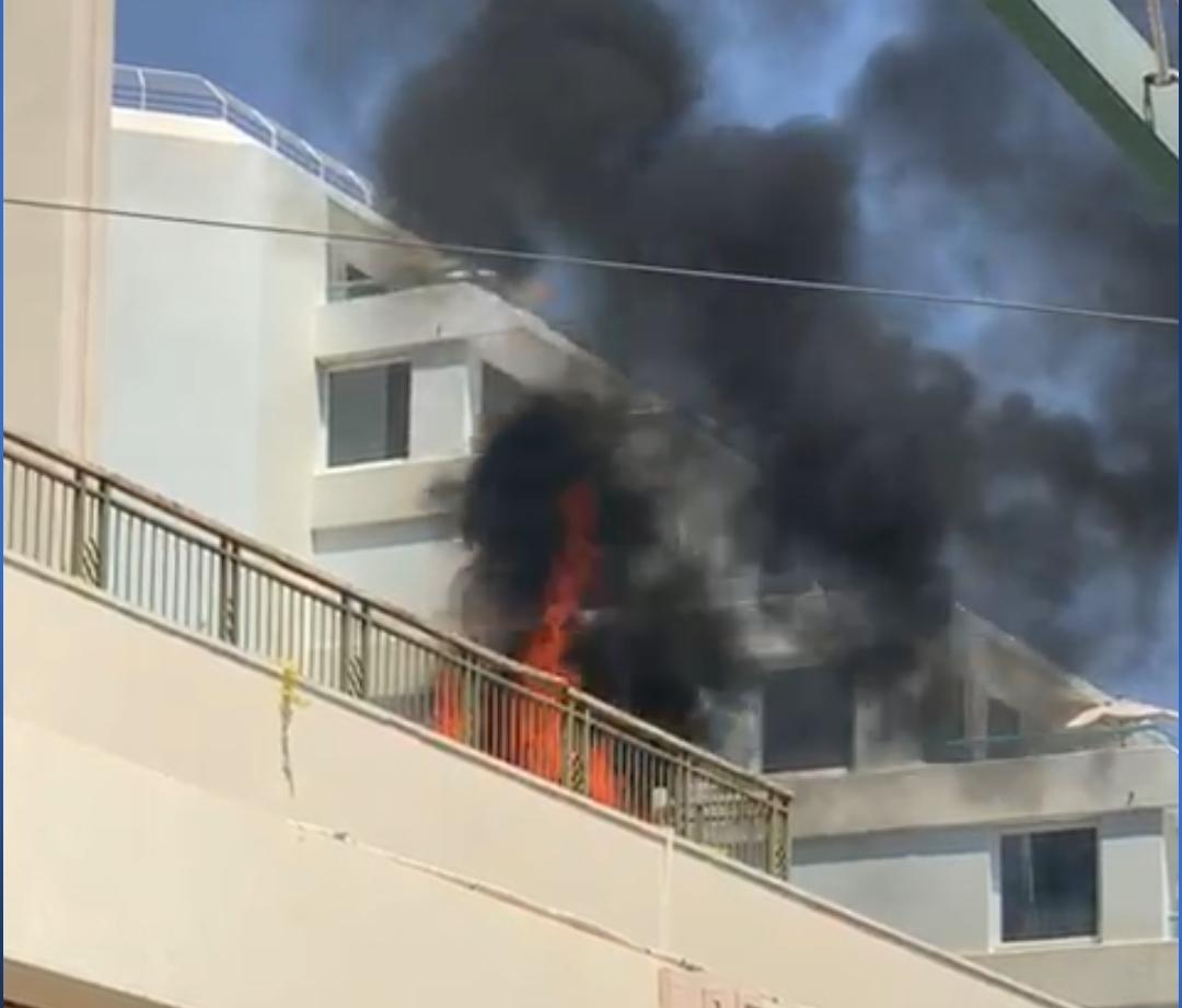 בפעם ה-2 השבוע שריפה במלון באילת