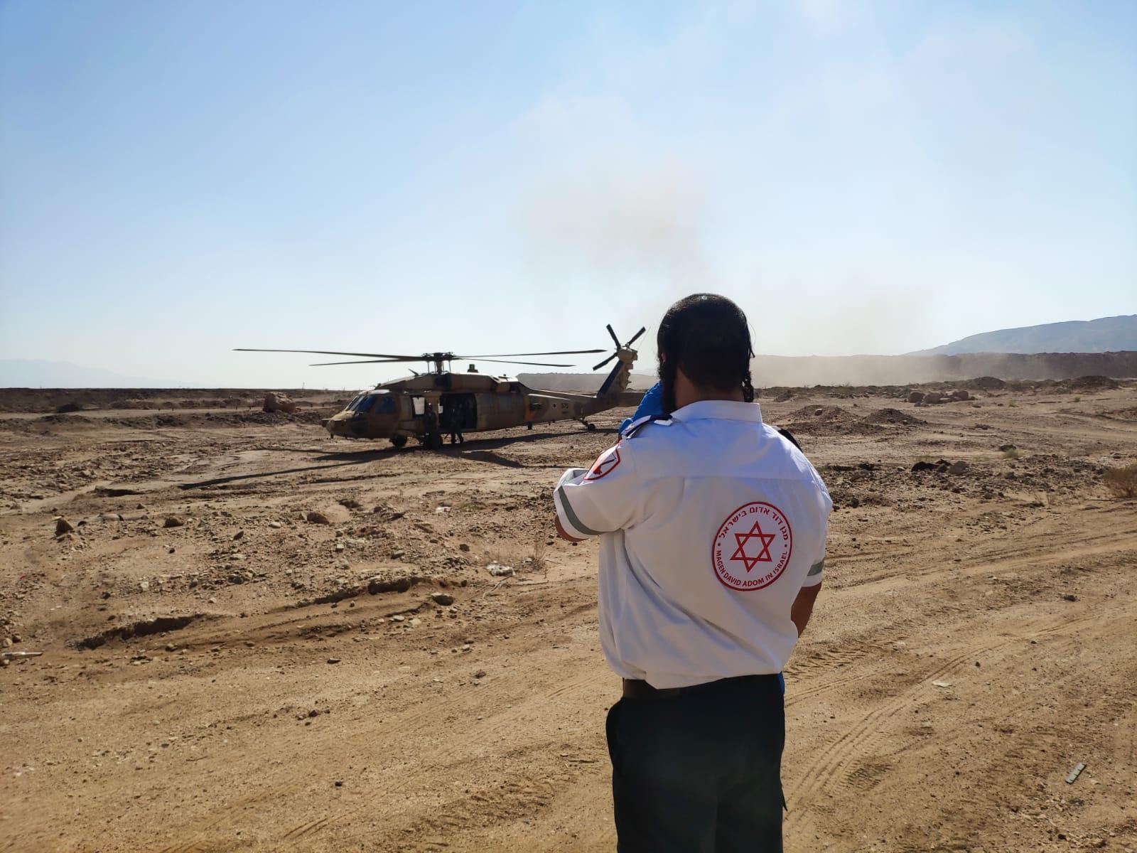 צפו בסרטון החילוץ הדרמטי ממצוק הרי אילת אתמול