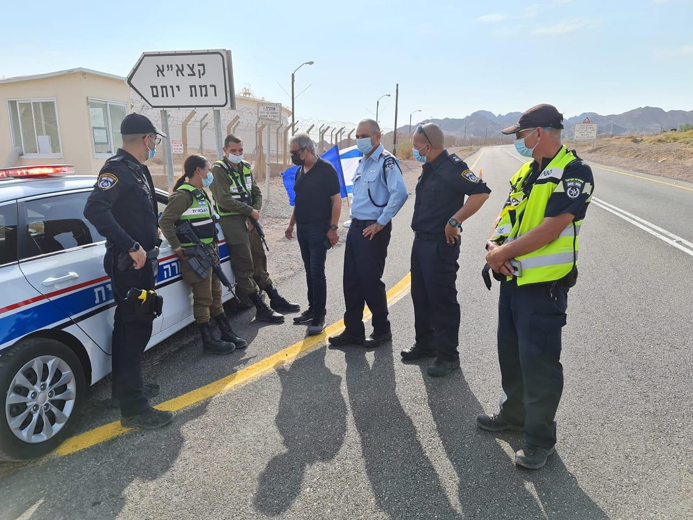 הסגר הכללי נכנס לתוקפו - כוחות משטרה נפרסו ברחבי אילת והערבה