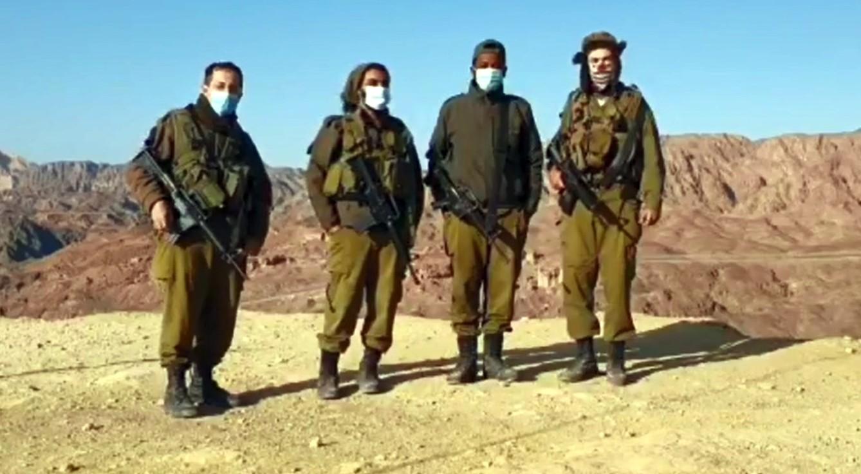 צפו בחיילי המילואים של אוגדה 146 מברכים את תושבי אילת