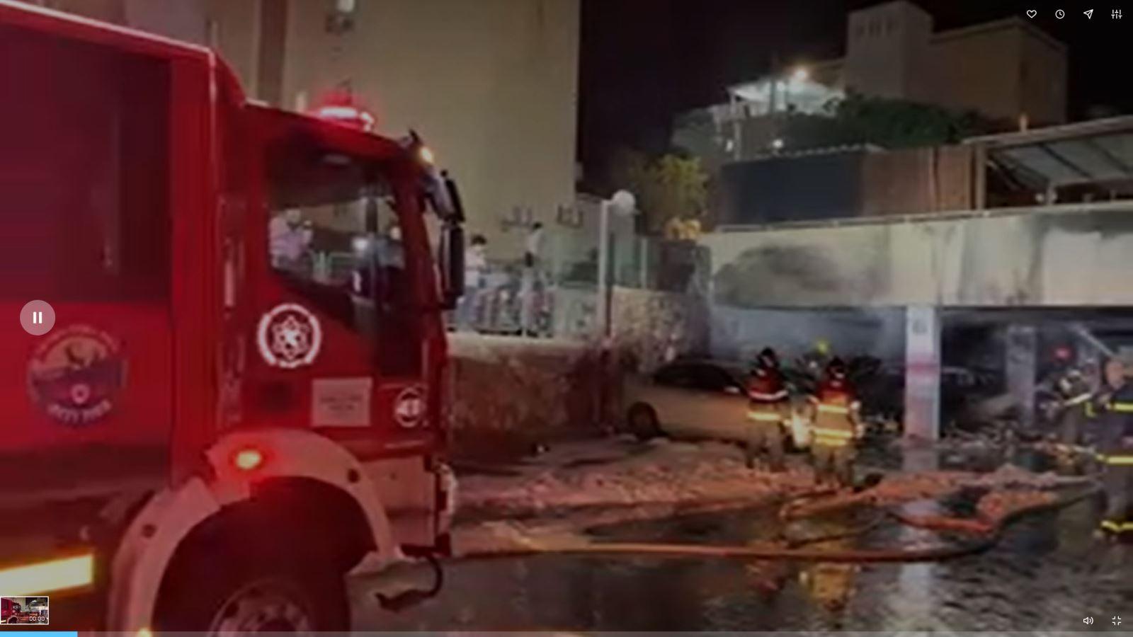 שריפה ברחוב עין גדי באילת