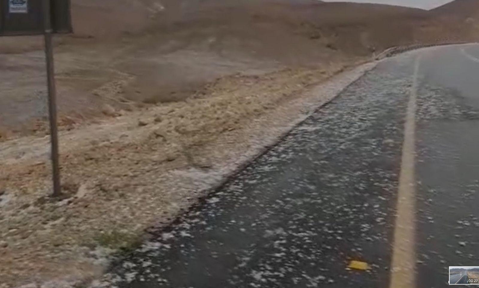 נהגים שימו לב: חסימות כביש באזור אילת בשל מזג אוויר