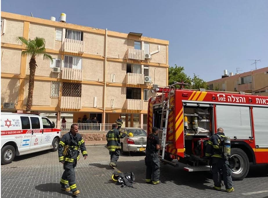 שריפה בבניין  מגורים בשכונת אופיר באילת