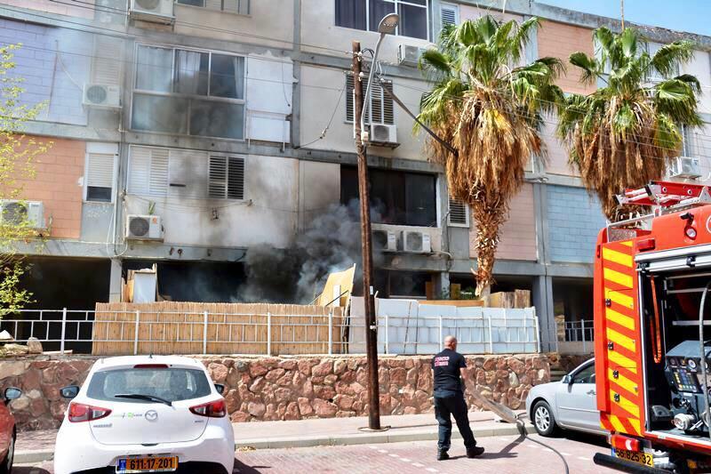 שריפה ברחוב גרופית באילת