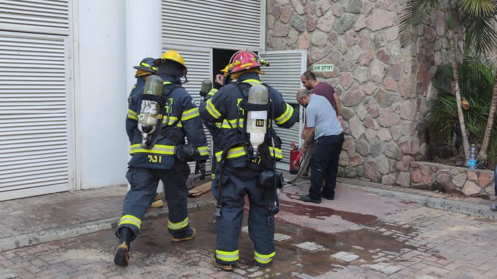 שריפה במלון ''ם סוף''בחוף אלמוג באילת