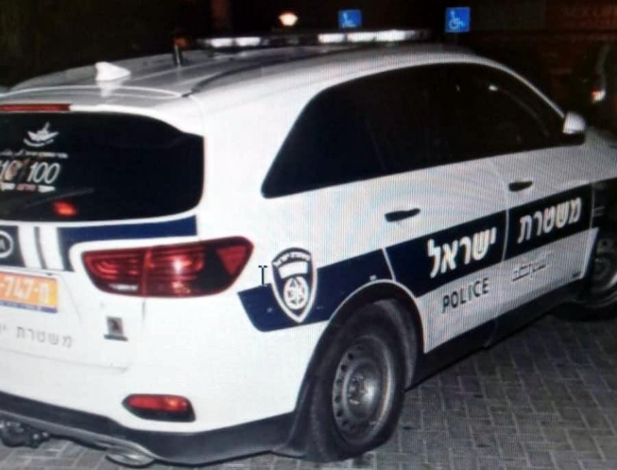 משטרת ישראל ביצעה מעצרו של חשוד בגרימת נזק לניידות משטרה באילת