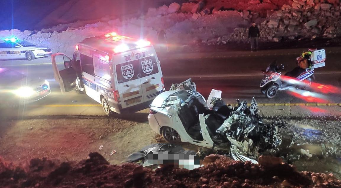 תמונות קשות מזירת התאונה בכביש 90 סמוך לצוקים