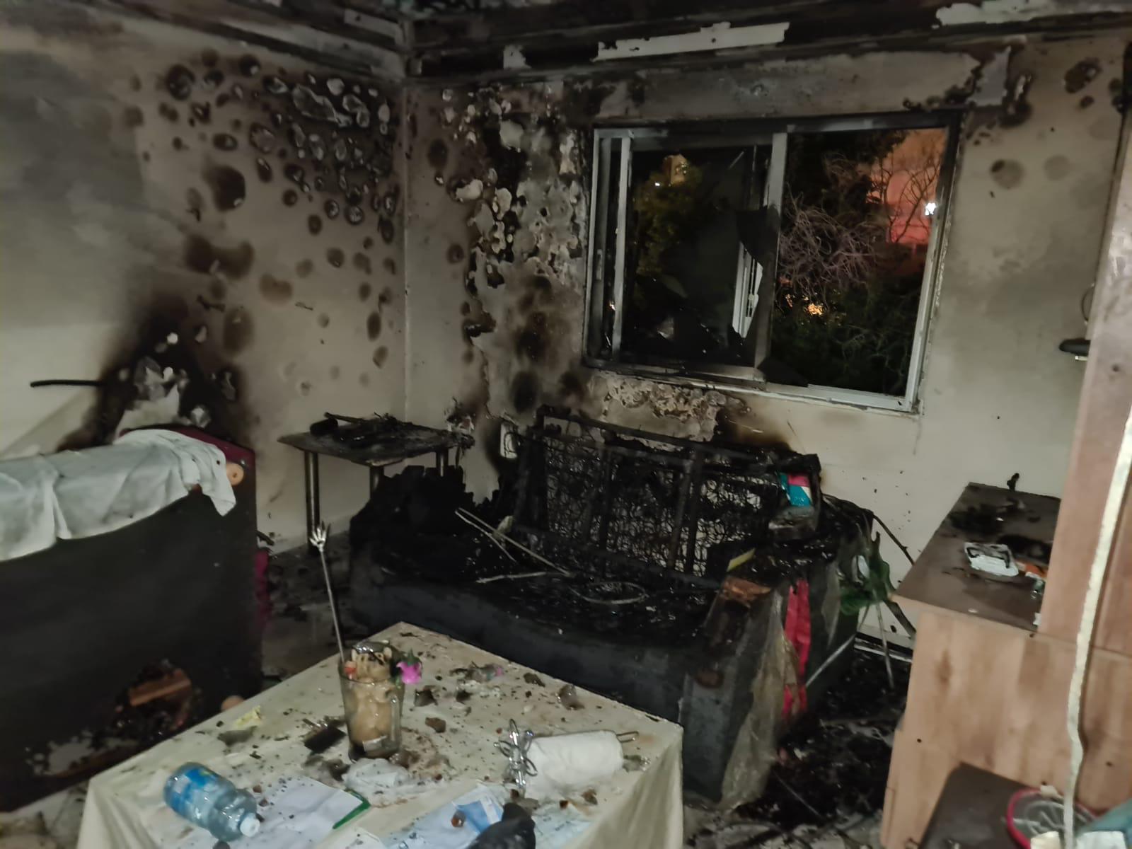שריפה בבניין 5207 באילת