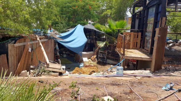 הוסר המפגע המכוער בפארק המזרקה