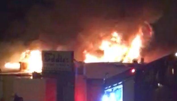 פיצוץ ושריפה גדולה ב'מחבוא של אדי'