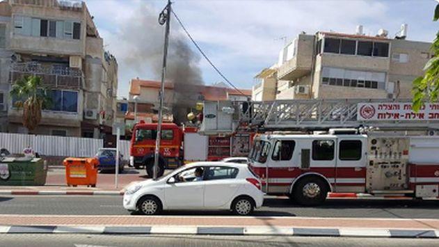 וידיאו: חולצו לכודים בשריפה במפוח