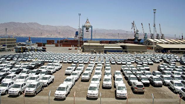 נמל אילת מעלה את מחירי אחסון המכוניות