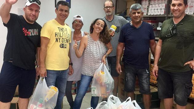 חג שמח- 570 משפחות יקבלו  סלי מזון ותווי קנייה לחג