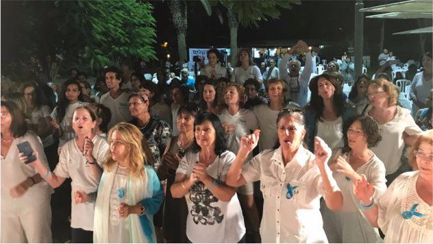 שירת הגבולות של נשים עושות שלום מגיעה לתצפית הגבולות באילת