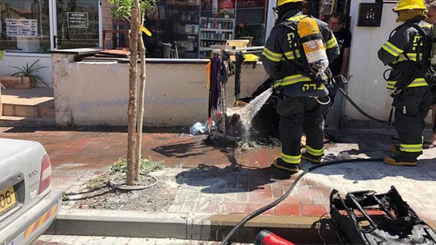 שריפה בשכונה א'