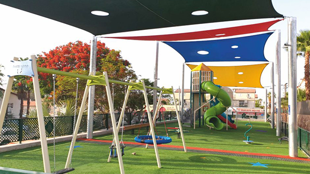 ילדי שכונה יעלים התחדשו בעוד גן משחקים