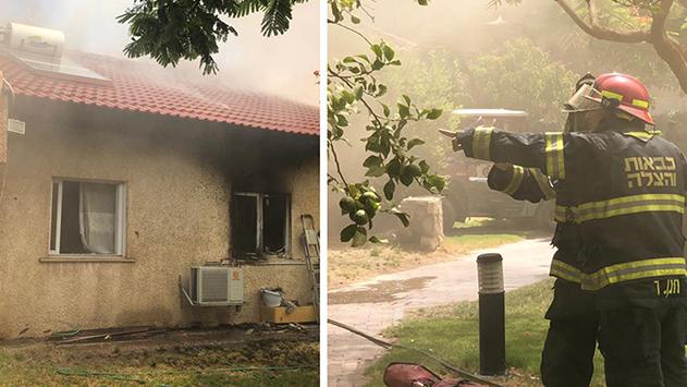 שתי דירות נשרפו