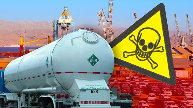 האסון בדרך: חיפה כימיקלים הגישה  בקשה לפריקת אמוניה דרך נמל אילת