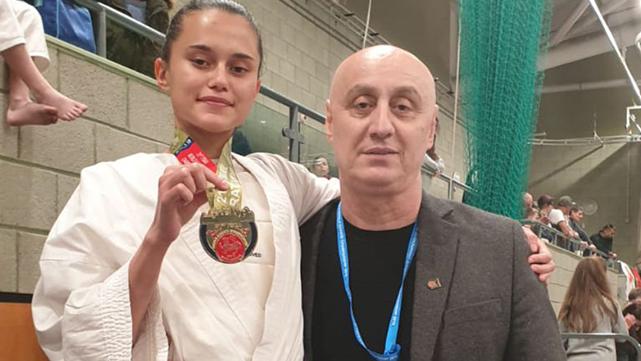 ניקול לוצ'קין לקחה את אליפות העולם בקראטה בנוקאאוט