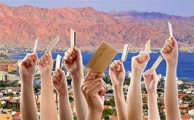 טרוף יולי אוגוסט:  עלייה של 35% בהיקף העסקאות  בכרטיסי האשראי באילת