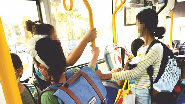 בהעדר מקום - לא כל ילדי מהגרי  העבודה מועלים בבוקר לאוטובוסים