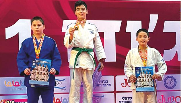 מושיקו אזולאי - אלוף ישראל  הטרי בג'ודו עד 50 ק''ג