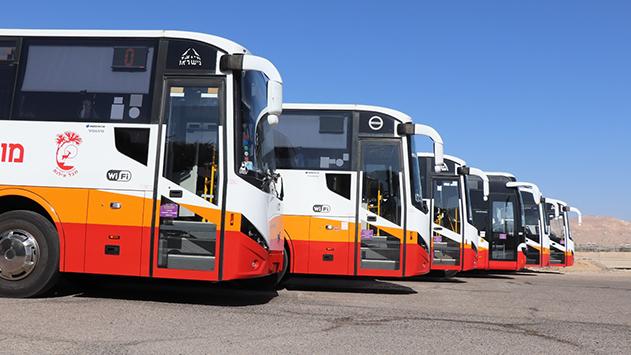 שיפור ניכר בציון הבקרה של  התחבורה הציבורית בחבל אילות